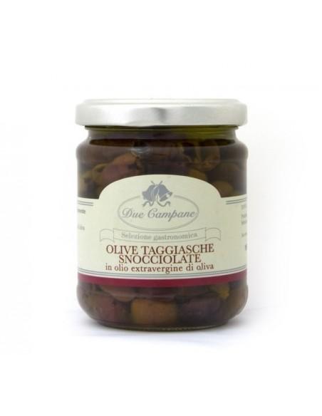 Olive taggiasche snocciolate in olio extravergine di oliva