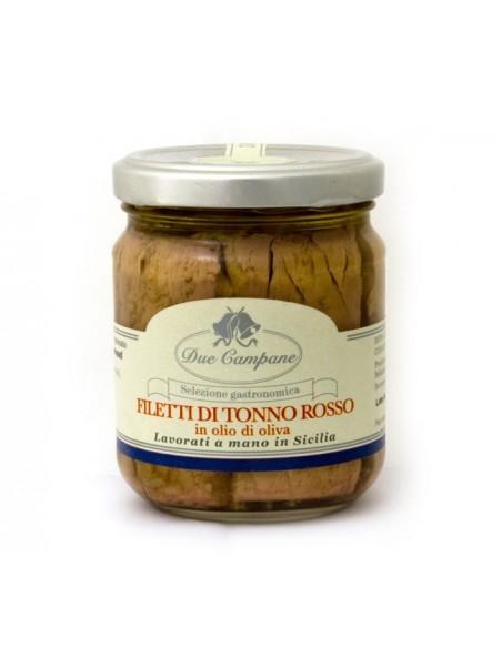 Filetti di tonno rosso in olio di oliva